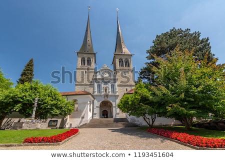 Iglesia importante mojón ciudad Suiza Foto stock © borisb17