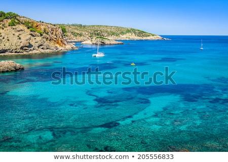 Cala Benirras beach of Ibiza in Sant Joan Stock photo © lunamarina