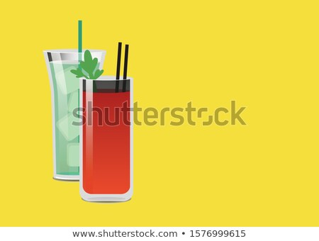 drinken · mojito · mint · cocktail · zomer · poster - stockfoto © robuart