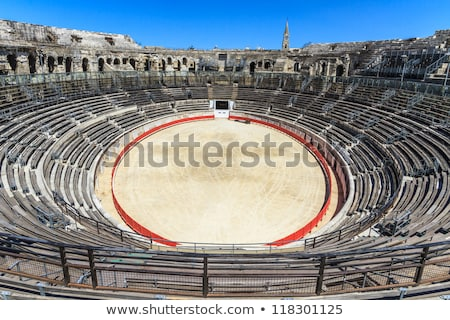 Arena of Nimes Roman amphitheater in France Stock photo © boggy