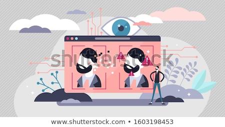 Technológia mély hamisítvány számítástechnika mesterséges intelligencia arculat Stock fotó © Lightsource