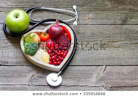Cukrzyca stetoskop serca czarny tabeli zdrowia Zdjęcia stock © AndreyPopov