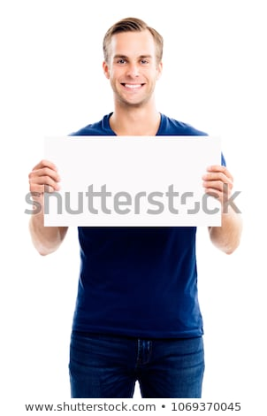 Mutlu adam beyaz muhteşem haber Stok fotoğraf © lichtmeister