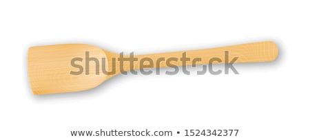 Scapula Wooden Chef Kitchenware Equipment Vector Stock photo © pikepicture