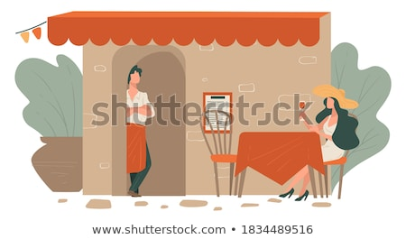 restaurant terrasse exterior of cafe with tables stock photo © robuart