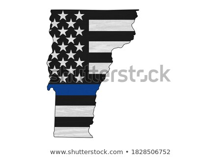 State of Vermont Police Support Flag Illustration Stock photo © enterlinedesign