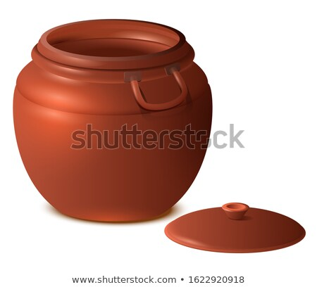 Grand vide argile céramique pot 3d illustration Photo stock © orensila