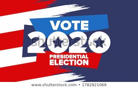 Szavazás kitűző Egyesült Államok választás közelkép kék Stock fotó © nito