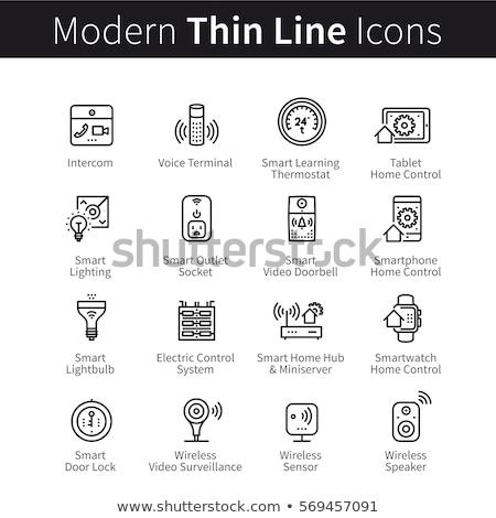 Smartphone Voice Control Icon Vector Illustration Stock photo © pikepicture