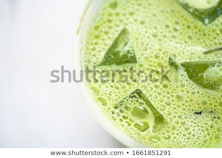 Por tej hideg ital étel kollázs üveg Stock fotó © furmanphoto