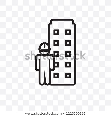 building information modeling icon vector outline illustration Stock photo © pikepicture