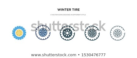 winter tires icon vector outline illustration Stock photo © pikepicture