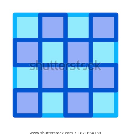 symmetrical tile surface icon vector outline illustration Stock photo © pikepicture