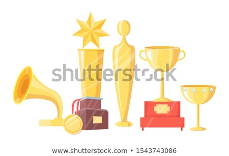 Award of Gold Made in Form of Stars on Pedestal Stock photo © robuart
