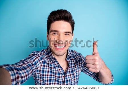 молодые счастливым человека знак изолированный Сток-фото © benzoix