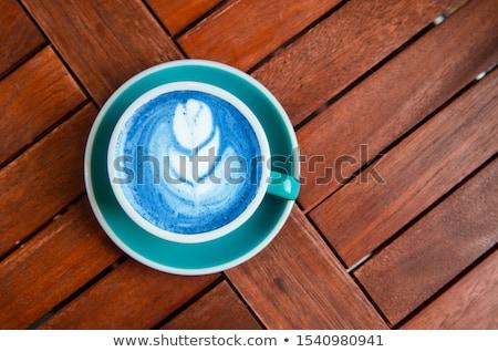 Blue matcha latte with milk Stock photo © furmanphoto