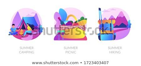 Summer weekend activities vector concept metaphors. Stock photo © RAStudio