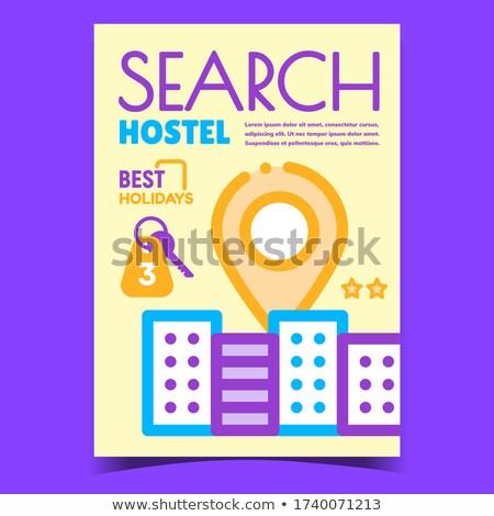検索 ホステル のGPS  マーク 創造 バナー ストックフォト © pikepicture