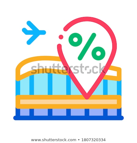 duty free increase in percent icon vector outline illustration Stock photo © pikepicture
