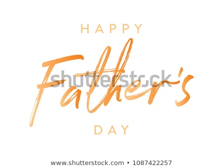 dad and child love design happy fathers day Stock photo © SArts