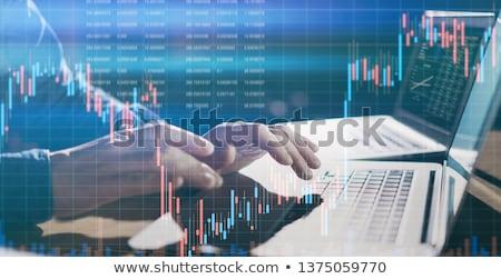 Tőzsde kereskedelem kutatás pénzügyi üzlet iroda Stock fotó © AndreyPopov