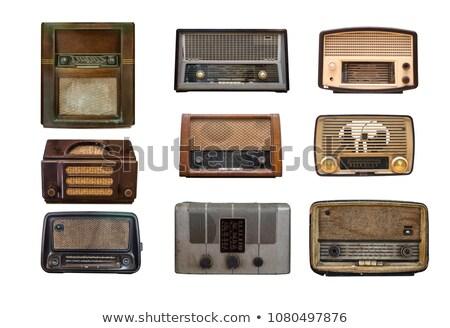 velho · vintage · tubo · rádio · isolado · branco - foto stock © koratmember