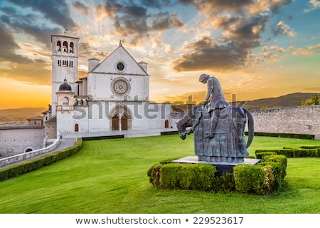 Papal Basilica of Saint Francis of Assisi - San Francesco Stock photo © aladin66