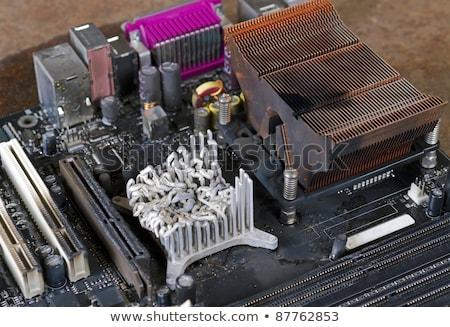 molten heat sink on computer mainboard Stock photo © gewoldi