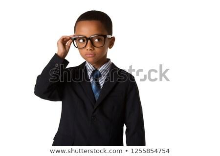 Strict boy with glasses Stock photo © RuslanOmega