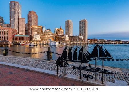 Harbor Walk, Boston, at sunrise Stock photo © jsnover