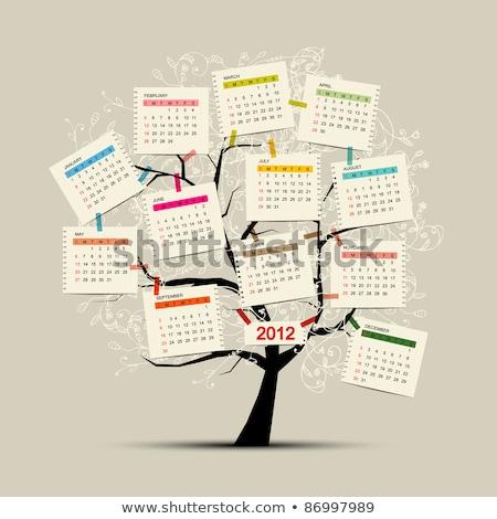 2012 yılbaşı plan yazılı tebeşir tahta Stok fotoğraf © bbbar