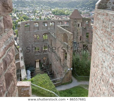 Wertheim Aerial View In Sunny Ambiance Photo stock © PRILL
