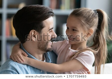 Parents fille homme paysage cheveux père Photo stock © photography33