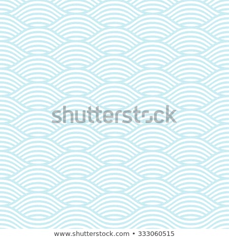 seamless blue pattern with waves stock photo © elmiko