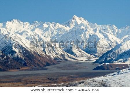 谷 · 南 · 島 · ニュージーランド · 風景 - ストックフォト © 3523studio