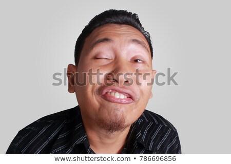 Zakenman weird gezicht business man Stockfoto © photography33