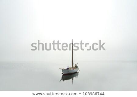 navegação · barco · névoa · lado · praia - foto stock © jacojvr
