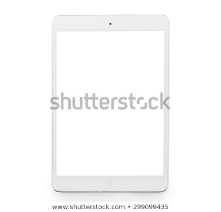 ноутбук · икона · синий · изолированный · белый - Сток-фото © imaster