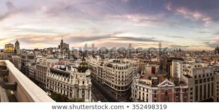 Madrid · stedelijke · texturen · hemel · hout · achtergrond - stockfoto © HectorSnchz