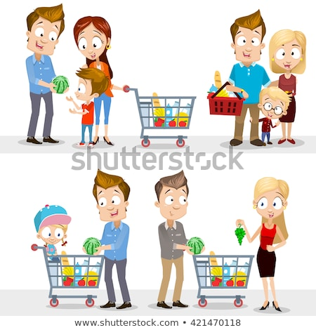 Man with a shopping trolley of organic produce Stock photo © photography33