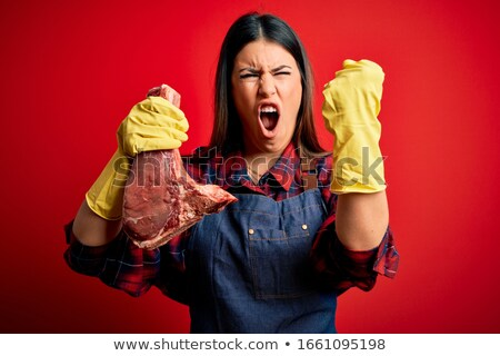 Mad butcher Stock photo © sumners