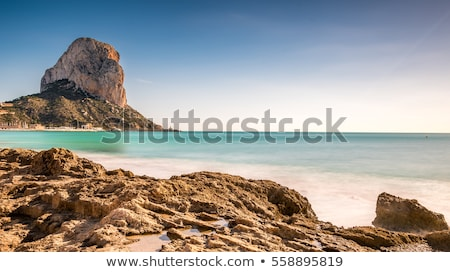 Calpe in alicante with Penon Ifach mountain Stock photo © lunamarina