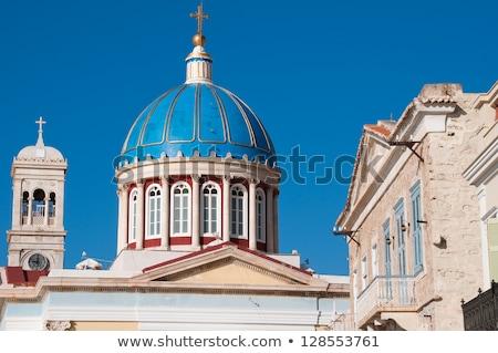 Aziz kilise Yunanistan deniz çapraz Stok fotoğraf © HypnoCreative