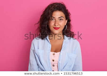 Attractive brunet girl Stock photo © Anna_Om