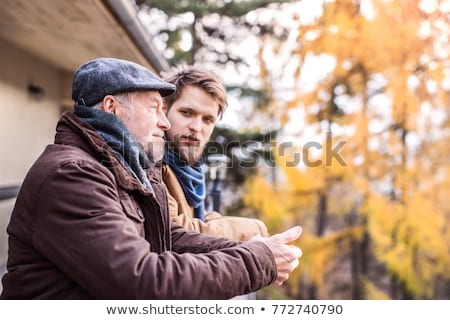 man out for a walk with his young son stock photo © photography33