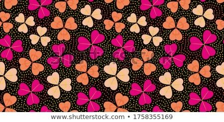 Tres color floral patrón diseno hoja Foto stock © WaD