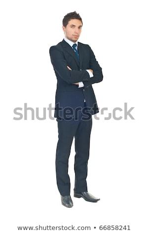 серьезный · деловой · человек · рук · сложенный · молодые · Постоянный - Сток-фото © feedough