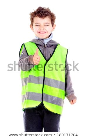 Vészhelyzet mellény gyerekek izolált fehér biztonság Stock fotó © ABBPhoto