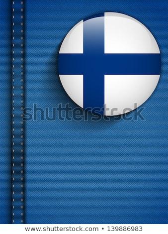 ストックフォト: フィンランド · フラグ · ボタン · ジーンズ · ポケット · ベクトル