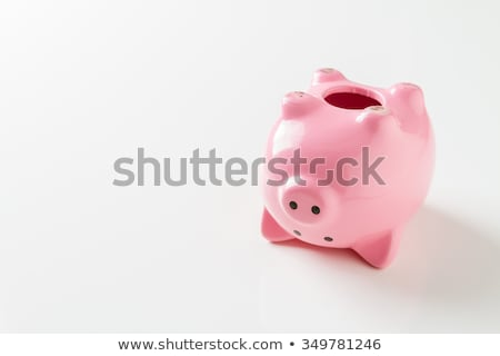 Pink piggy bank upside down Stock photo © sqback